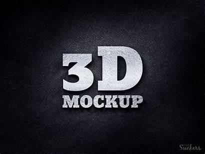 Mockup 3d Silver Template Psd Mockups Photoshop