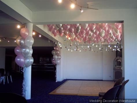 pink and white balloon decorations gallery