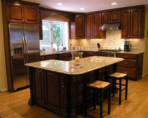 Traditional L Shaped Island Kitchen Design Ideas, Remodels