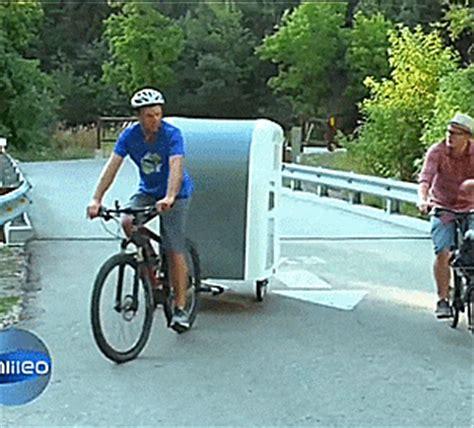 wide path camper  mini camper  towed   bicycle
