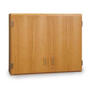 Large Lockable Storage Cabinets by Wall Mounted Storage Cabinet Solid Oak Doors 48 Quot X 12