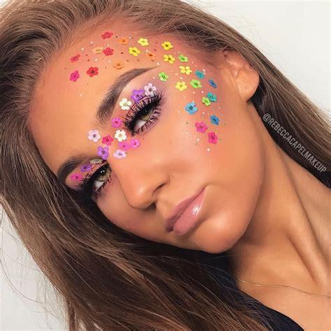 rebecca capel makeup  instagram day  flower power atmakeupgeekcosmetics