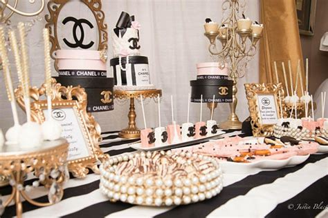 chanel inspired bridal shower ideas themes