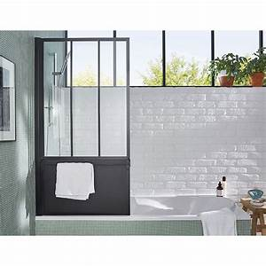 Pare Douche Pour Baignoire : pare baignoire loft 3 volets noir castorama it 39 s all ~ Premium-room.com Idées de Décoration
