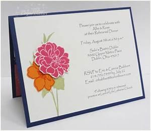 handmade wedding invitations stampin up weddingpluspluscom With handmade wedding invitations stampin up