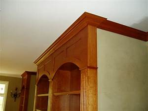 Bookcases, book case, wooden bookcase, library, crown molding