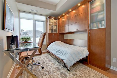 Home Office with Hidden Guest Bed   Contemporary   Home
