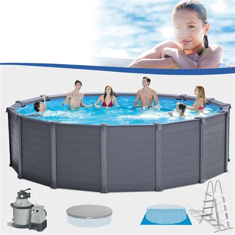 poolset mit sandfilteranlage intex 478x124 frame swimming pool schwimmbecken schwimmbad mit sandfilter pumpe