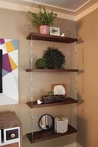 Oltre 25 fantastiche idee su Mensole sospese su Pinterest Ripiani in legno di recupero