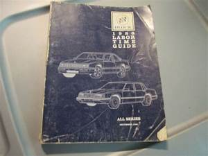 1988 Buick Labor Time Guide All Series Manual Book