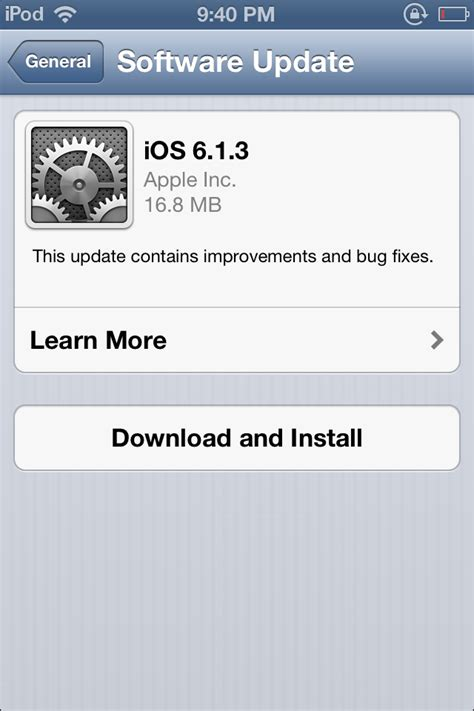 iphone 6 software update ios 6 1 3 firmware for iphone and ipod touch