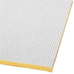 shop armstrong shasta 32 pack white textured 15 16 in drop