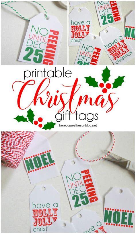 Printable Christmas Gift Tags  Here Comes The Sun
