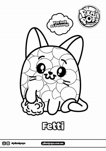 Coloring Pikmi Pops Cat Pages Fetti