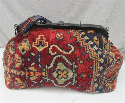 vintage carpet bag suffolk england tote overnight mary