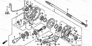 Honda Atv 2005 Oem Parts Diagram For Final Driven Gear