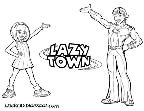 Kleurplaat Lazytown by Lazytown Coloring Pages Coloring Home