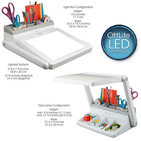 ottlite led light box and task l station for all