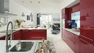 Conforama Buffet De Cuisine : meuble de cuisine rouge conforama buffet youtube ~ Melissatoandfro.com Idées de Décoration