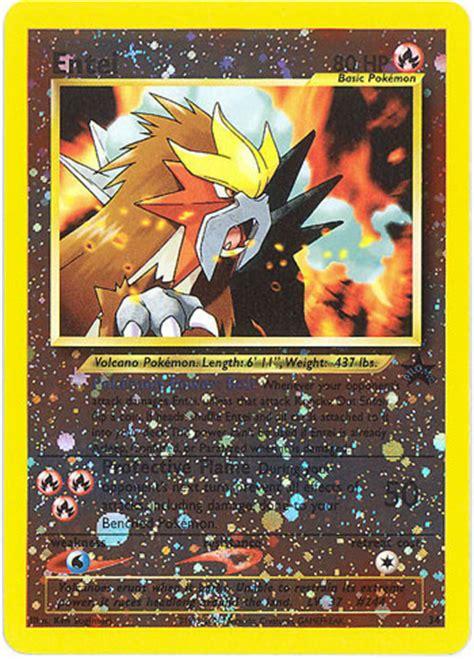 pokemon card black star promo  entei holo foil