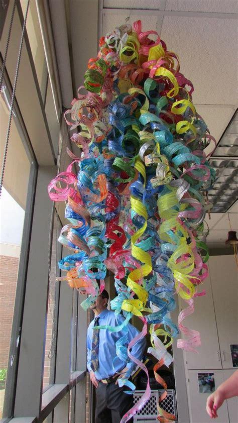 flint toddlers turn discarded water bottles  art