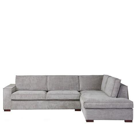 canapé d angle tissu canapé d 39 angle à droite tissu côtelé by drawer