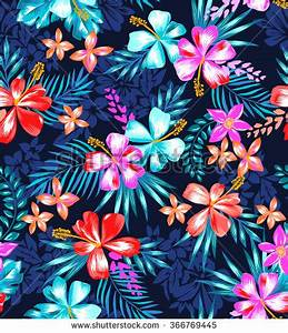 cute tropical design ~ seamless background   PATTERNS ...