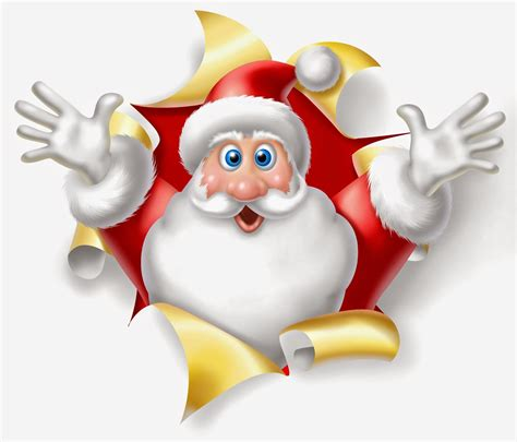 funny santa claus cartoon pictures christmas images