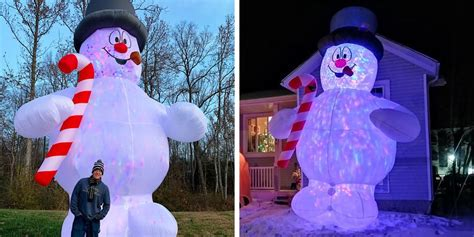 giant inflatable frosty  snowman  taller