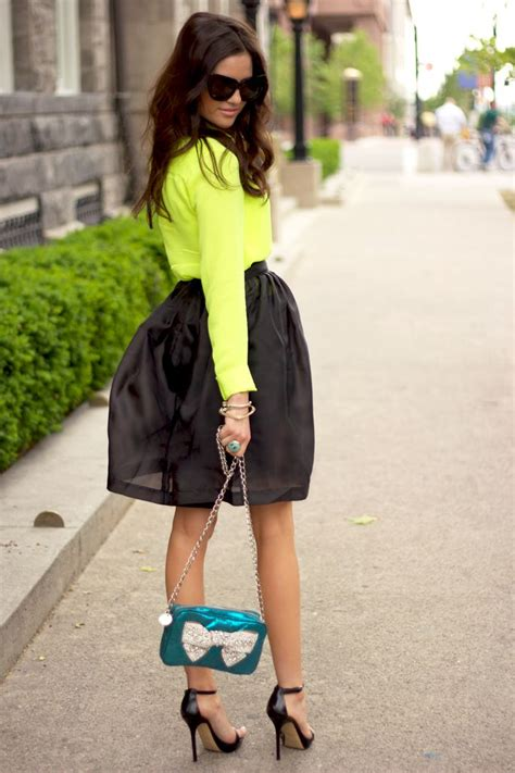 17 Best ideas about Neon Top on Pinterest   Color jeans Classy shorts outfits and Spring clothes