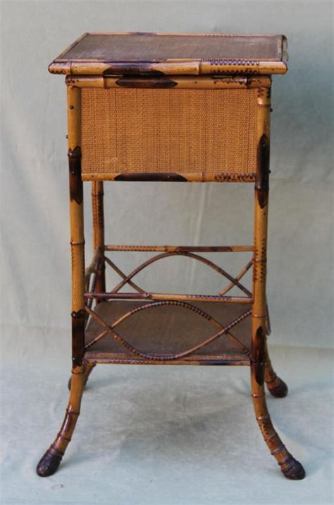 antique tables for sale on ebay antique 1920s bamboo rattan deco sewing table stand nr