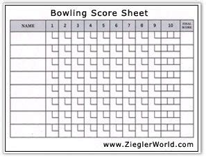 printable bowling record sheets bowling score