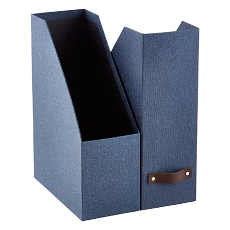 Bigso Marten Navy Magazine Holder  The Container Store