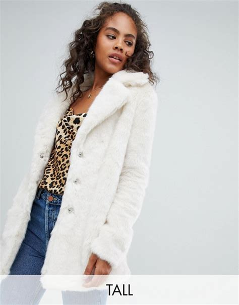 Glamorous Tall relaxed coat in faux fur | ASOS