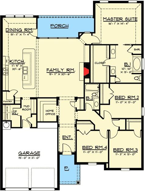 plan chp  level european house plan  open