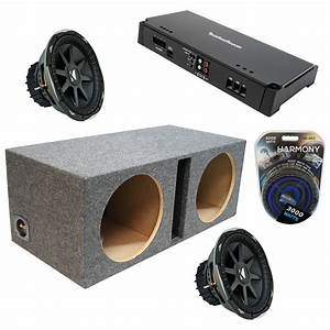 Kicker Car Speakers : kicker car audio dual 12 cvx12 ported speaker sub box ~ Jslefanu.com Haus und Dekorationen