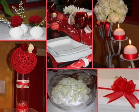 decoration rouge  blanc idees deco mariage deco