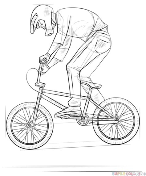 Bmx Kleurplaat by Bmx Biker Coloring Pages