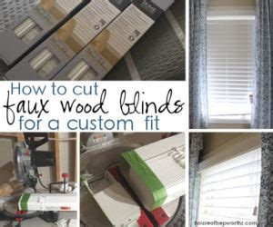 how to shorten faux wood blinds house of hepworths helping you diy your home one awesome