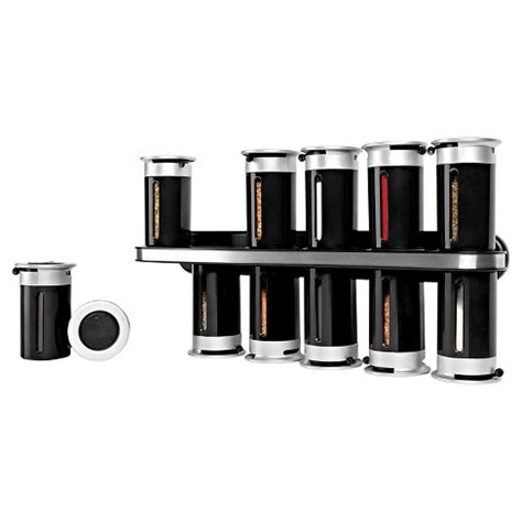 Magnetic Spice Rack Target by Zevro Zero Gravity Wall Mount 12 Canister Magnetic Spice