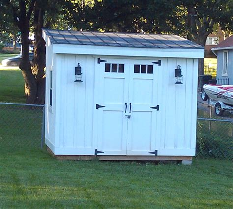 backyard built diy lean to or slanted roof shed built after a