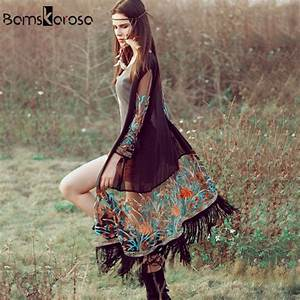 Was Ist Boho Style : bamskarosa bohemian style 2017 summer kimono cardigan casual fashion boho hippie embroidery ~ Orissabook.com Haus und Dekorationen