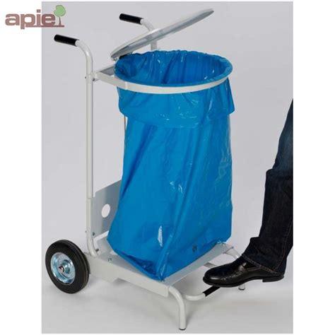 support sac poubelle mobile avec ouverture par p 233 dale