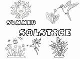 Solstice Coloring Coven Pagan sketch template