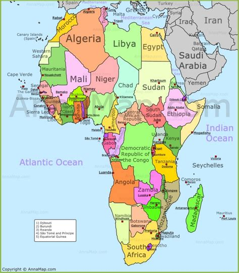 africa map political map  africa  countries