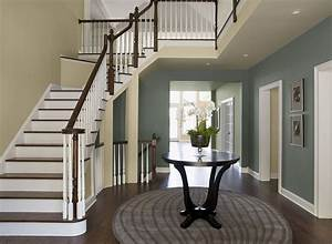 Interior paint ideas and inspiration stairway walls for Kitchen cabinet trends 2018 combined with scrapbook paper wall art