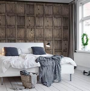 Papier Peint Trompe L Oeil Bois : papiers peints trompe l 39 oeil pour une chambre blog au ~ Premium-room.com Idées de Décoration