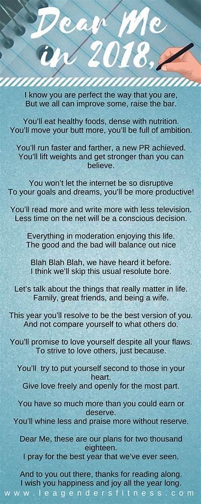 Dear Poem Resolution Self Fitness Poems Future