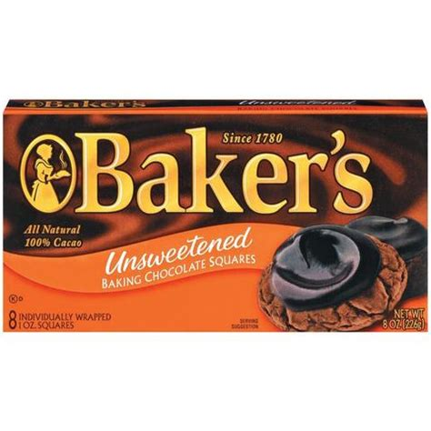 bakers unsweetened baking chocolate squares american