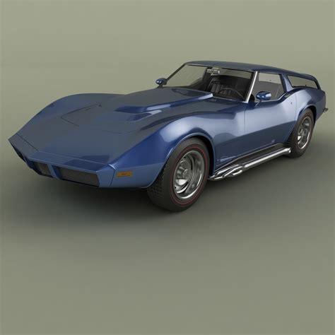 1973 Chevrolet Sport by 3d 1973 Chevrolet Corvette Sports Turbosquid 1336777